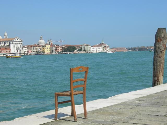 """Denna """"installation"""" fick vi uppleva på ön Giudecca"""