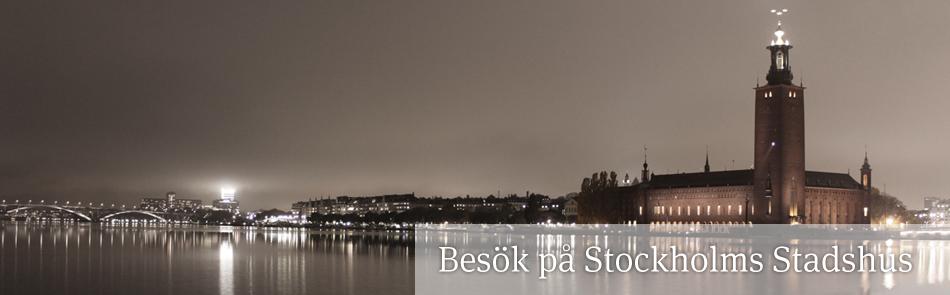 Besök på Stockholms stadshus