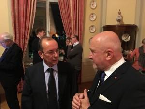 Ambassadör Cospito och Hans Lepp